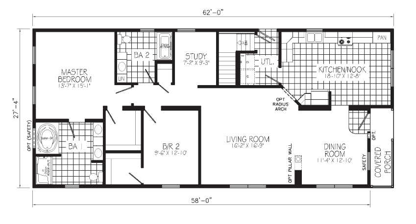 Infinity Floorplan First Floor