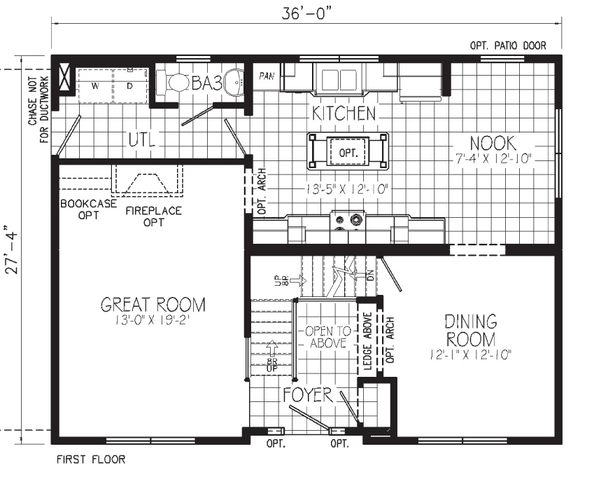 Lone Star Floorplan First Floor