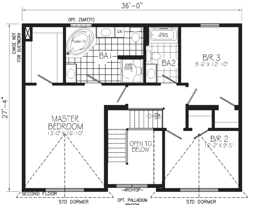 Lone Star Floorplan Second Floor